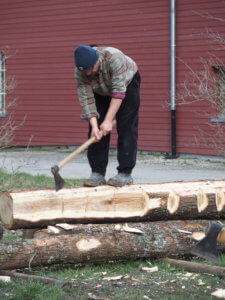 Julien HUBIN un charpentier alsacien, à l'oeuvre