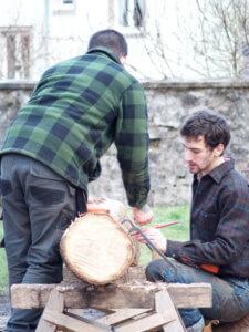 Maxime et Nevan prépapre le piquage